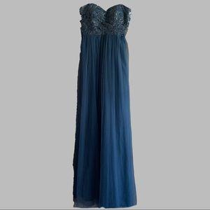 Jenny Yoo Juliette Navy Strapless Bridesmaid Dress